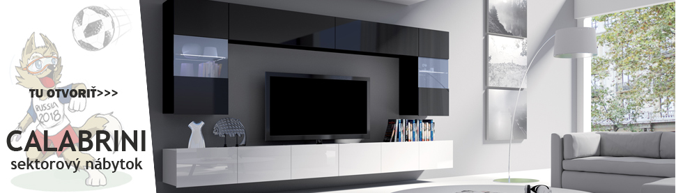 Sektorový obývací nábytok
