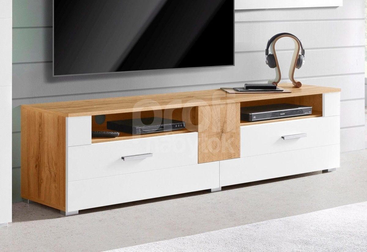 verona tv komoda 41 dub wotan biely lesk e shop n bytok profi kliknite si na z avu. Black Bedroom Furniture Sets. Home Design Ideas